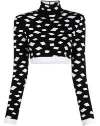 Balmain ジオメトリックパターン セーター - ブラック