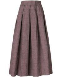 Department 5 - Check Midi Skirt - Lyst