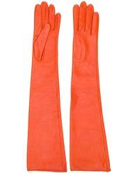Manokhi Gants à design long - Orange