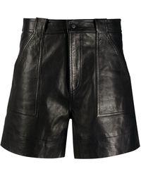 Ganni High Waist Shorts - Zwart