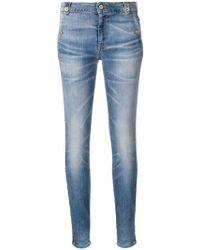 Just Cavalli - Jeans mit Lederstreifen - Lyst