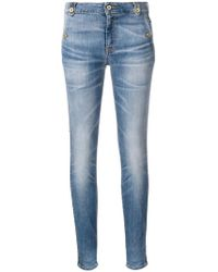 Just Cavalli - Leather Stripe Detail Jeans - Lyst