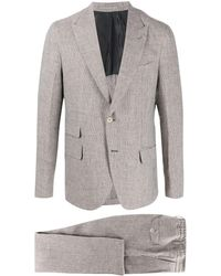 Eleventy Single-breasted Two-piece Suit - Brown