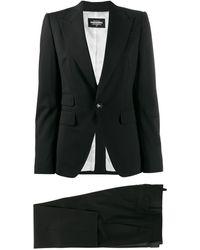 DSquared² Costume à design ajusté - Noir