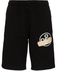 Off-White c/o Virgil Abloh Logo track shorts - Nero