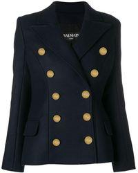 Balmain Double Breasted Jacket - Синий