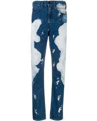 CALVIN KLEIN JEANS EST. 1978 Slim Bleached Jeans - Blue