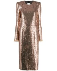 Philosophy Di Lorenzo Serafini Glitter Effect Dress - Metallic