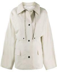 Kassl Cape Reversible Short Coat - Multicolour