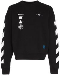 Off-White c/o Virgil Abloh Grafische Sweater - Zwart