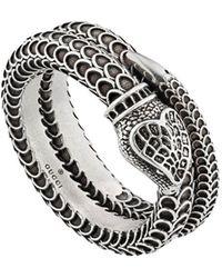 Gucci - ' Garden' Ring mit Schlange - Lyst