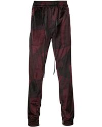 God's Masterful Children Abstract Track Pants - Red