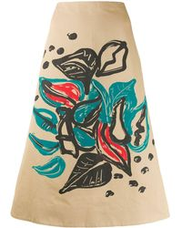 Marni Jungle Liz Print A-lined Skirt - Multicolour