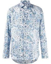 Etro Hemd mit Paisley-Print - Blau