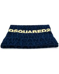 DSquared² ロゴ ビーチタオル - ブルー