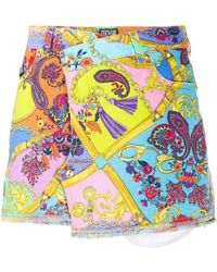 Versace Jeans Couture - Paisley Fantasy ミニスカート - Lyst