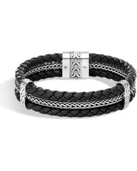 John Hardy Classic Chain Triple Row Bracelet - Black