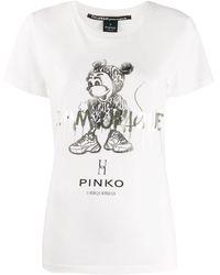 Pinko 'Uniqueness' T-Shirt - Weiß