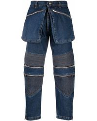Youths in Balaclava Utility Ribbed Straight-leg Jeans - Blue