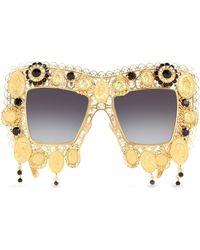 Dolce & Gabbana Солнцезащитные Очки Devotion В Массивной Оправе - Многоцветный