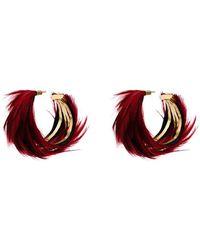 Katerina Makriyianni Aros con diseño de plumas - Rojo