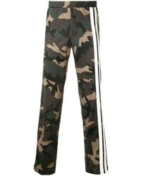 Valentino Camouflage Track Pants With Contrasting Side Bands - Groen