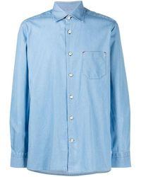 Kiton Рубашка С Заостренным Воротником - Синий
