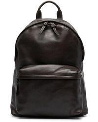 Officine Creative Multiple Pocket Leather Backpack - Brown