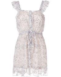 SIR - Tilda Ruffle Silk Mini Dress - Lyst