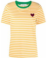 Chinti & Parker ストライプ Tシャツ - イエロー