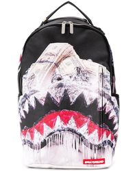 Sprayground - Shark Print Backpack - Lyst