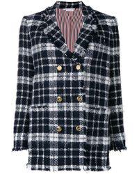 Thom Browne - Tartan Tweed Sack Jacket - Lyst