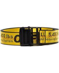 Off-White c/o Virgil Abloh Industrial Logo Belt - Yellow