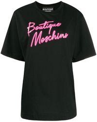 Boutique Moschino ロゴ Tシャツ - ブラック