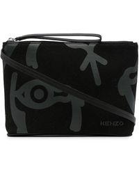 KENZO グラフィック クラッチバッグ - ブラック
