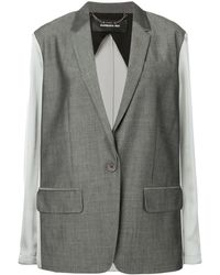 Barbara Bui Contrast Fitted Blazer - Gray