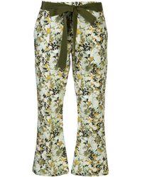 Silvia Tcherassi Pantaloni a fiori Fabienne - Verde