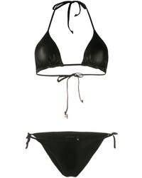 Fisico Triangle Bikini - Black