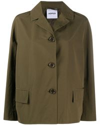Aspesi Notch-lapel Military Jacket - Green