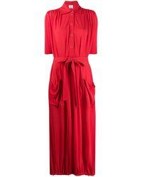 Burberry Short-sleeve Gathered Dress