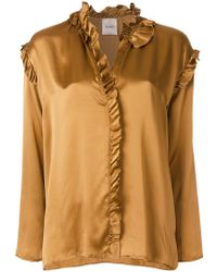 Nude - Frill Trim Blouse - Lyst