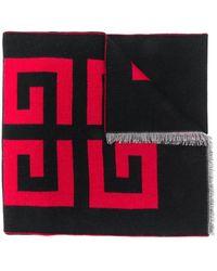 Givenchy ロゴプリント スカーフ - ブラック