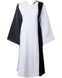 8d3a95f15b70 Lyst - MM6 by Maison Martin Margiela Wrap Detail T-shirt Dress in Black
