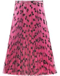 Gucci Iridescent Bow Lurex Pleated Skirt - Roze