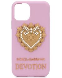 Dolce & Gabbana Silicone Iphone 11 Pro Case - Pink