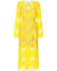 Goen.J - Lace Maxi Wrap Dress - Lyst