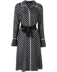 Karl Lagerfeld - Logo Stripe Dress - Lyst