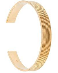 ISABEL LENNSE 10x2 Ribbed Cuff Bracelet - Metallic