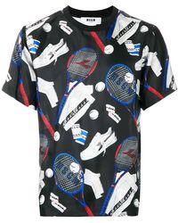 MSGM - Tennis Print T-shirt - Lyst