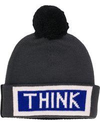 49c3aa8872c Fendi Jacquard Monogram Bobble Hat in Blue for Men - Lyst